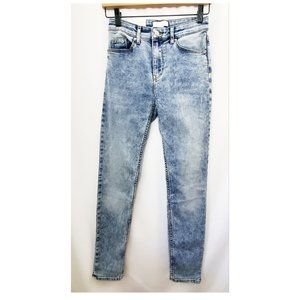H&M Light Distressed Wash Skinny Ankle Jeans NWT